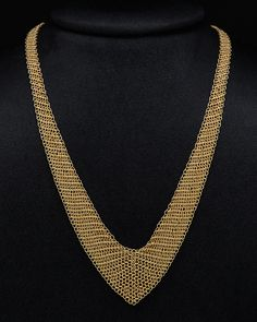 """Tiffany & Co. """"Elsa Peretti"""" 18K Mesh Necklace is on Rue. Shop it now."""