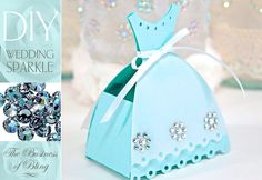 DIY Wedding Sparkle with Artistic Crystals: Tabletop Gift or Birdseed Boxes