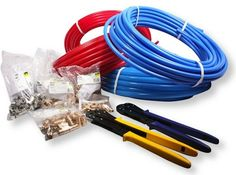 If you are using PEX tubing, no complex soldering or messy gluing is required—try that with copper or PVC pipe!