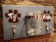 Double PAWesome Leash and Treat Holder by VintageFlairFurnish