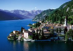 in northern Italy. The deepest lake in Europe. I wonder if George Clooney will let me stay over. Places Around The World, Oh The Places You'll Go, Great Places, Places To Travel, Beautiful Places, Places To Visit, Beautiful Scenery, Beautiful Gardens, George Clooney