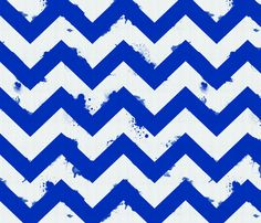 Ombre Watercolor Chevron-navy fabric by lastleaf on Spoonflower - custom fabric