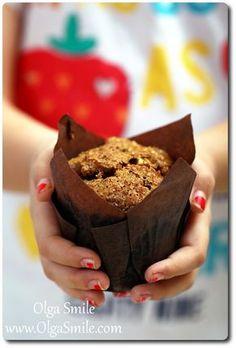 Muffinki Gryczane z jablkami i cynamonem