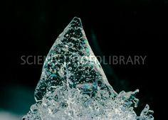 Ice stalagmite