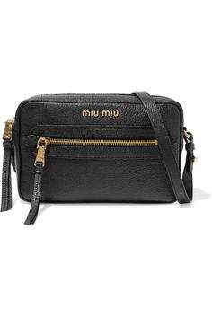 1914f29bcf7 Miu Miu - Textured-leather Shoulder Bag - Black · LoeweNet A PorterLeather  ...