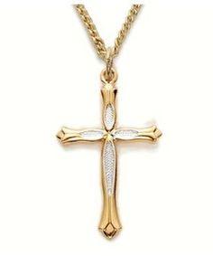 I love gold crosses!!