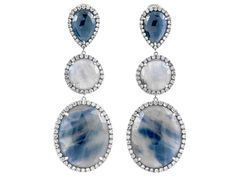 Fancy Sapphire Slice Earrings by SAMIRA®