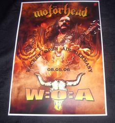 Motorhead concert poster Wacken Open Air Germany 2006 A3 size repro