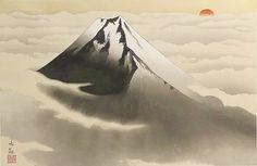 'Mount Fuji' woodcut by Taikan YOKOYAMA