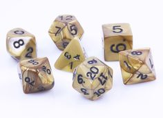 Olympic Dice (Gold) | RPG Role Playing Game Dice Set