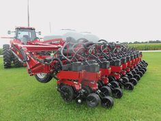 Rear of 23 row CaseIH 1245 corn planter