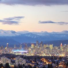 The downtown Vancouver skyline snapped from Burnaby | Photo: @bon.bahar