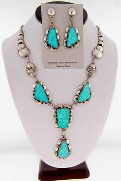 Elegant Lab Opal Necklace and Earrings | Clement Nalwood Native American Jewelry | Elegant Native American Indian Jewelry