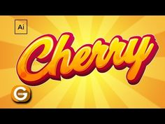 Illustrator Tutorial | Tipografía Personalizada Cherry | Cherry Custom Typography - YouTube