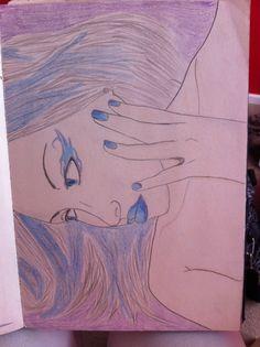 My art draw blue love