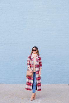 Nordstrom Red Plaid Coat