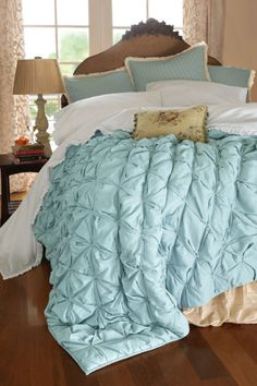 Ingrid Smocked Quilt - Soft Surroundings - great home furnishings and clothing website