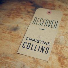 7 Kraft Reserved Seating Signs for Rustic Weddings by woodandgrain, $21.00