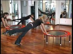 "Pilates workout at ""Pilatesbody"" Munich/Germany with the bellicon rebounder"