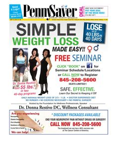"""Known as the best weight-loss doctor in all of New York and Connecticut and its surrounding area, Dr. Donna Restivo is the mastermind behind Restivo Chiropractic's """"Lose Up To 40 pounds in 40 days"""" weight-loss program. Weight Loss Herbs, Best Weight Loss Foods, Weight Loss For Men, Quick Weight Loss Diet, Help Losing Weight, Weight Loss Snacks, Weight Loss Tablets, Chiropractic, Connecticut"""