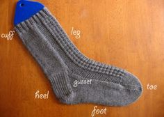 Sock Knitting Tutorial & Thermal Textured Socks Pattern -- This is one of the better tutorials I've seen for making socks.