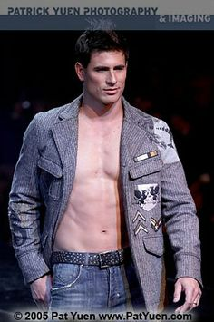 Lee Pappas by Pat Yuen for Macy's Passport (2005) #LeePappas #PatYuen #malemodel #model #StarsModels #StarsModelMgmt #runway #Macys