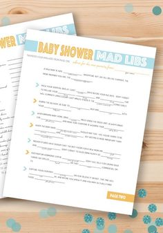 Hosting a baby shower any time soon? Add a game of baby shower Mad Libs to the party! This entertaining twist on an old favorite will be a hit among your guests and give the mom-to-be a good laugh too.