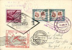 30.1.1931, DO-X Karte mit guter FL-Frankatur, nach USA geflogen, tadellos. KW 990.-- Dealer Honegger Michael Auction Auction Minimum Bid: 200.00 CHF