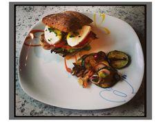 nell's lovely handmade stuff: Chickenburger mit Mango Chutney und warmen Zucchin... Fast Food, Chutney, Salmon Burgers, Hamburger, Mango, Ethnic Recipes, Cooking, Food Food, Manga