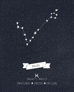 Pisces Constellation - tattoo idea (mini's zodiac) More