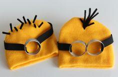 Craft Ideas, Kids Crafts, Recipes and More | Make and Takes Fantasia Minion, Minion Goggles, Minion Beanie, Minion Hats, Minion Craft, My Minion, Minion Glasses, Minion Stuff, Adult Minion Costume