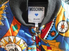 COLLECTOR #Vintage bomber jacket by MOSCHINO. High Fashion #MOSCHINO JEANS made in Italy multicolored…