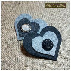 #Felt #hearts #brooches - #Spille in #Feltro a forma di #Cuore