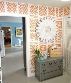 Orange and white - I love this.