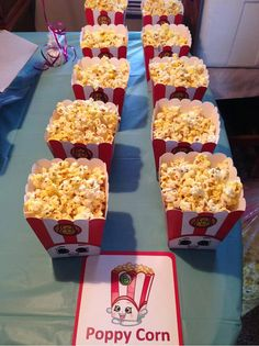 3 Poppy Corn Popcorn Box Shopkins Birthday Party by SuperCraftDee