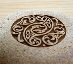 Celtic wedding stone Home decor engraved stone by sjengraving, $25.00