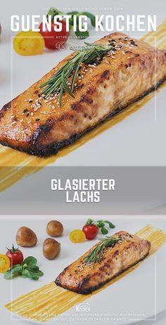 Das Rezept für glasierte Lachsfilets ist an Einfachheit kaum zu überbieten und ist im Grunde genommen gelingsicher. Mit etwas Geschick beim Einkauf ist dieses leckere Rezept sogar noch sehr preiswert zu kochen. #food #recipes #rezepte #yummy #ideen Convenience Food, Cheesesteak, Low Carb, Ethnic Recipes, Chef, Easy, Seafood Recipes, Cooking Salmon, Brunch Recipes