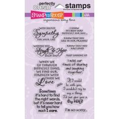 "Stampendous Perfectly Clear Stamps 4""X6"" Sheet-Sincere Sentiments"