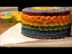 Copy of Making & Cutting Rainbow Cake Soap (NO MUSIC) ~ Petals Bath Boutique - YouTube