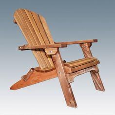 Montana Folding Adirondack Chair | Log outdoor & patio furniture