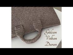 Derya Baykal'la Gülümse: Kağıt İple Çanta Yapımı - YouTube Crochet Bag Tutorials, Crochet Videos, Crochet Patterns, Free Crochet Bag, Crochet Box, Jute, Diy Sac, Wallet With Coin Pocket, Minimalist Wallet