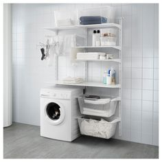 Versatile storage for anywhere in your home. That's the IKEA ALGOT series. Bec… Versatile storage for anywhere in your home. That's the IKEA ALGOT series. Because ALGOT can be easily customized to fit your space and storage needs, it can be used throughou Ikea Algot, Ikea Laundry, Laundry Room Organization, Laundry Storage, Ikea Storage, Small Laundry Room Organization, Room Organization, Ikea Laundry Room, Kitchen Storage
