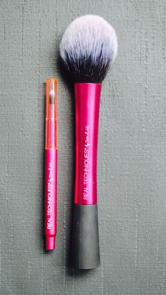 these two brushes are more of my favourites from real techniques. the first one is the retractable lip brush and the second is the blush brush. Blush Brush, Lip Brush, Bronzer, Concealer, Professional Tools, Real Techniques, Foundation Brush, Makeup Brushes, Eyebrows