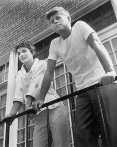 John F. Kennedy with wife Jacqueline.