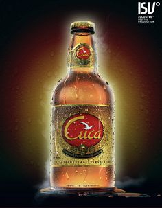 """Cuca Beer Bottle"" created by Luis Lopes using LightWave 3D software. www.lightwave3d.com"