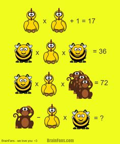 Brain teaser - Number And Math Puzzle - Math for geniuses - If you like our puzzles, you know what we're talking about. Take the chance and get the answer!
