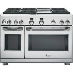 "GE Monogram - ZDP486NDPSS - 48"" Dual-Fuel Professional Range 