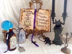 Haunted House Mansion Madame Leota Seance Incantation Spell Book Prop Halloween | eBay