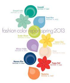 Tendencias de color Primavera Verano 2013