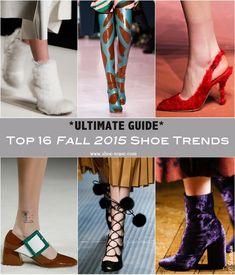 The Ultimate Guide – Fall 2015 Shoe Trends from the Top Runways